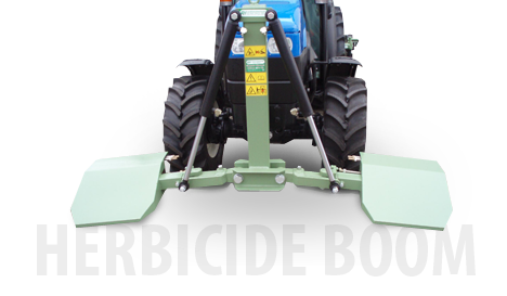 Double-sided herbicide boom